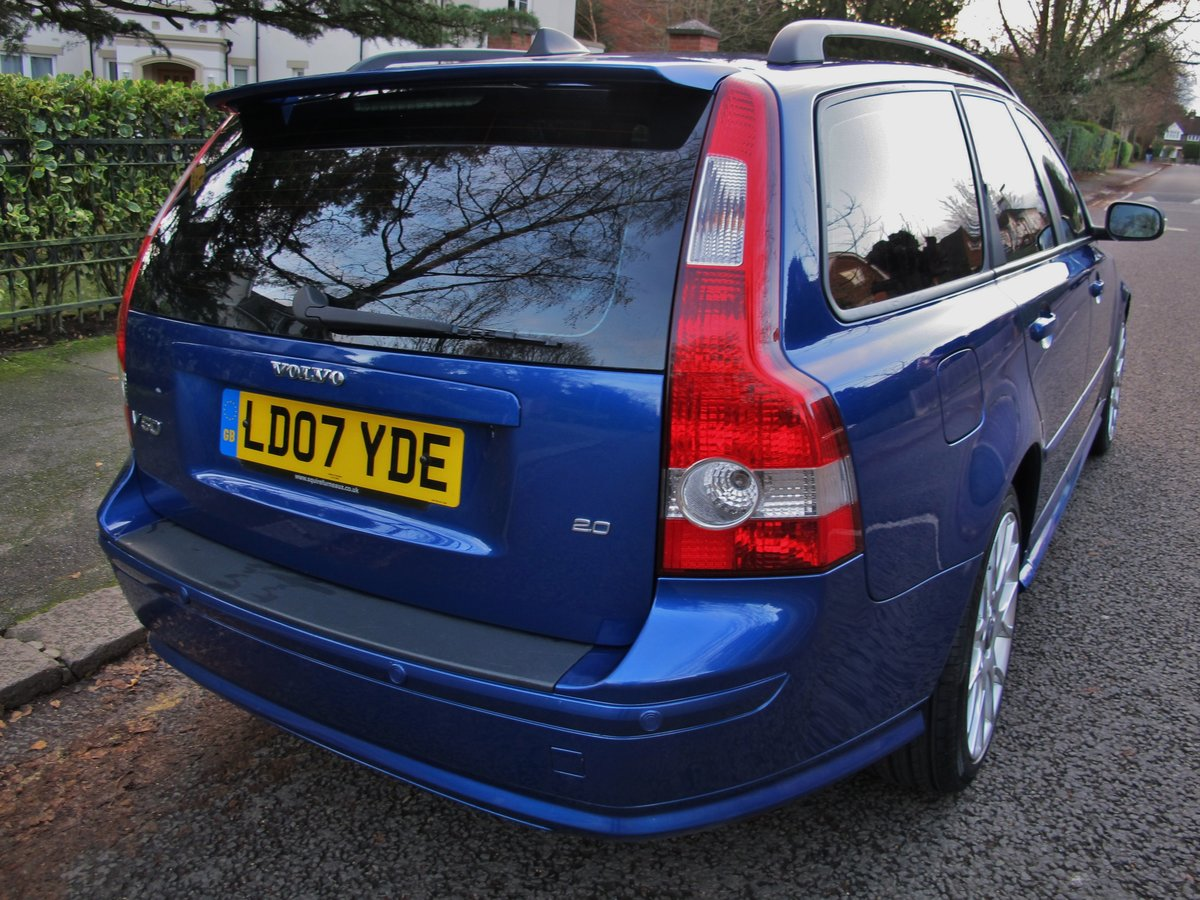 2007 VOLVO V50 2.0 D SE SPORT 1 OWNER+VOLVO 19400 m FSH LEATHER For Sale (picture 9 of 12)