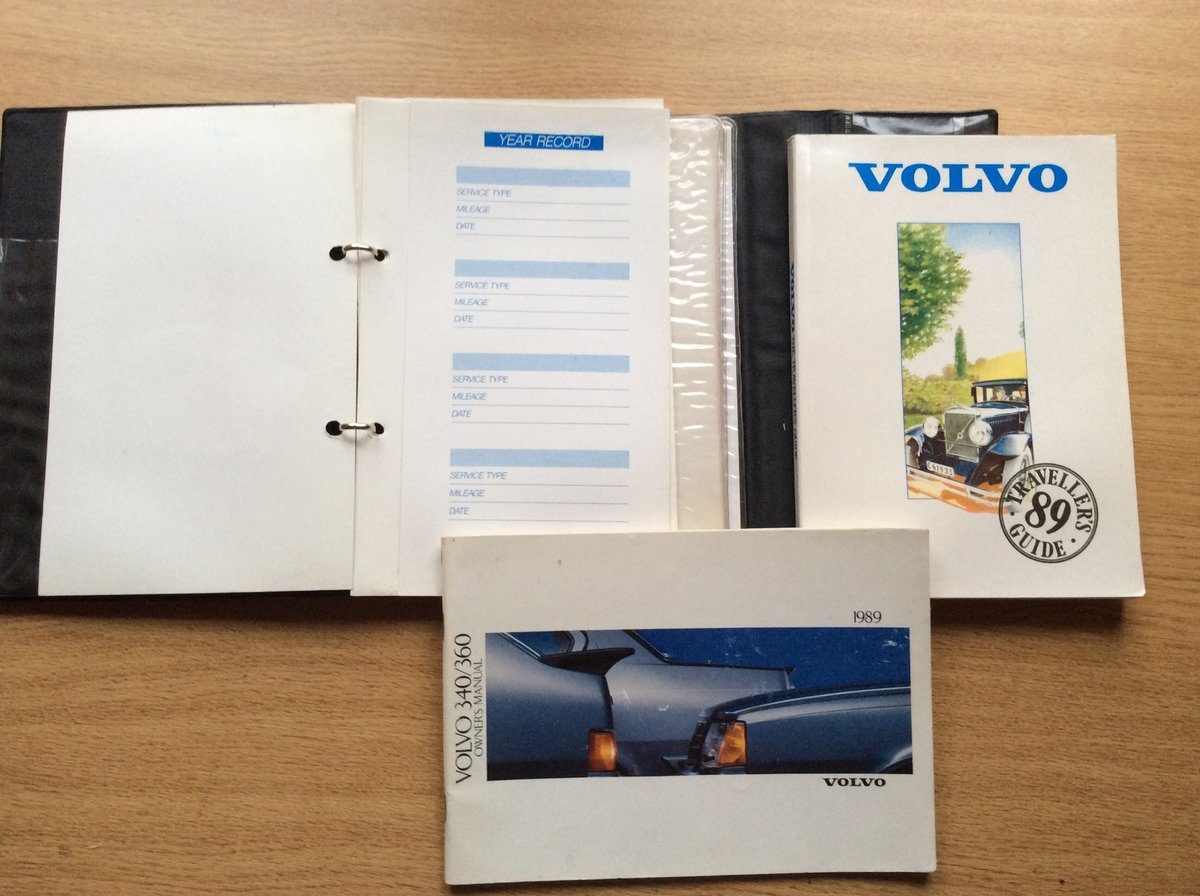 Wallet with all Handbooks for VOLVO 340/360 For Sale (picture 2 of 4)