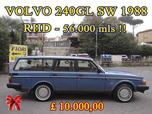 VOLVO 240GL SW 1988 RHD Auto Only 62000 mls  HAS TO GO...... For Sale (picture 1 of 6)
