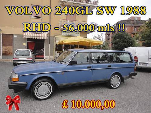 VOLVO 240GL SW 1988 RHD Auto Only 62000 mls  HAS TO GO...... For Sale (picture 2 of 6)