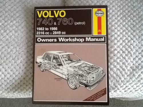 1982 VOLVO Haynes workshop manual For Sale (picture 1 of 2)