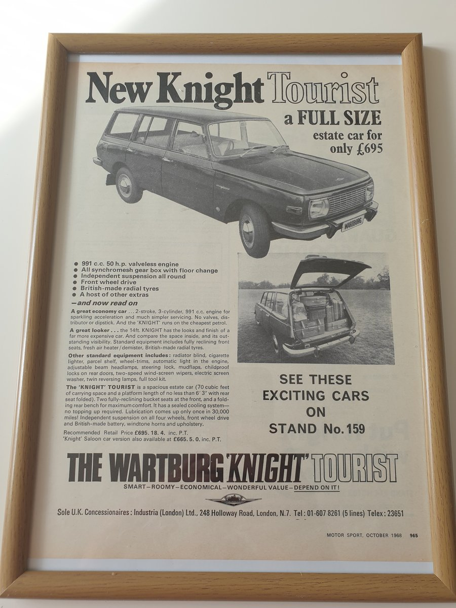Original 1968 Wartburg Knight Advert SOLD (picture 1 of 1)