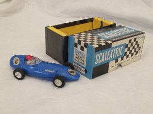 VANWALL SCALEXTRIC BLUE circa 1960