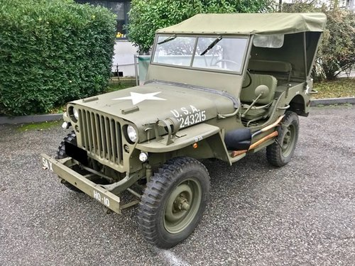 1945 WILLY'S MB JEEP OVERLAND FULLY RESTORED SOLD (picture 1 of 6)