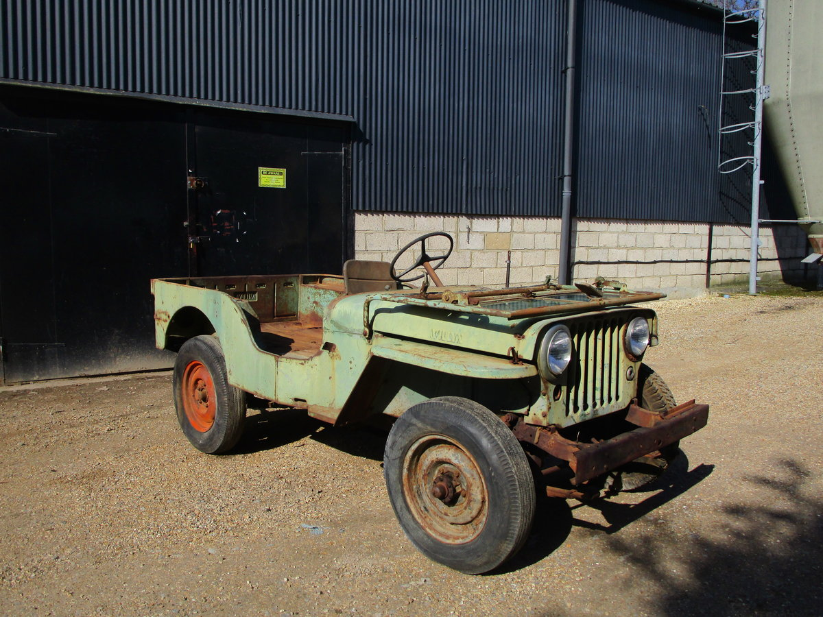 Willys CJ2A 1946 73 Year old Jeep Sat Decades. Rare Find. SOLD (picture 2 of 6)