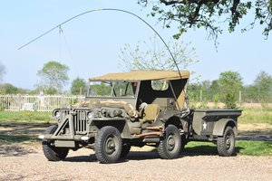 1943 Willys Overland Motors Jeep MB with Bantam trailor For Sale by Auction