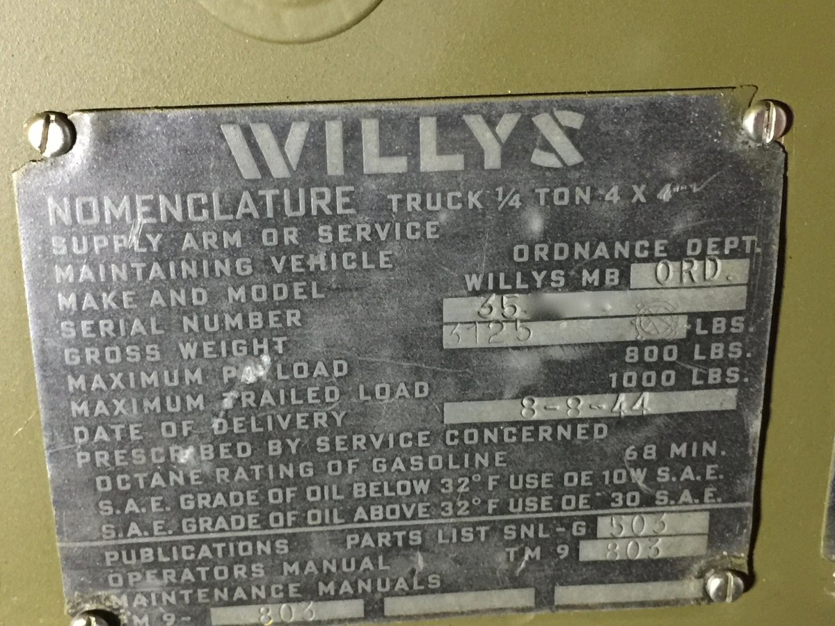 1944 Willys MB for sale - Excellent condition. SOLD (picture 2 of 6)