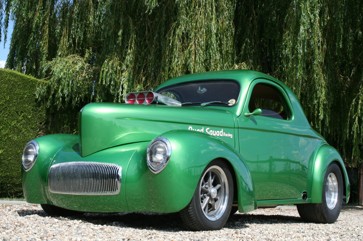 1941 Willys Coupe Blown V8 Hot Rod For Sale (picture 1 of 6)