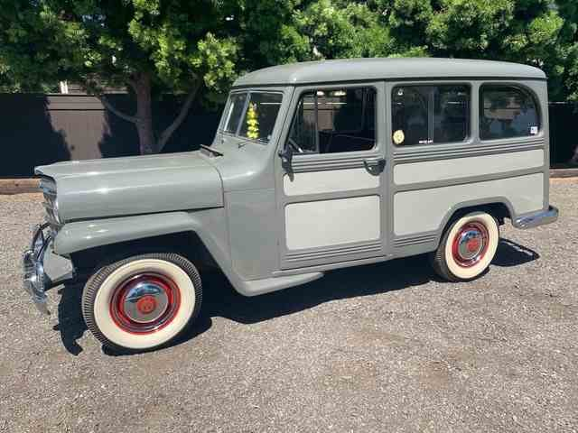 1951 Willys Wagon = clean solid Grey(~)Red driver  $24.9k For Sale (picture 1 of 6)