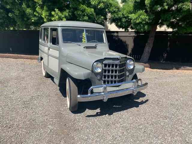 1951 Willys Wagon = clean solid Grey(~)Red driver  $24.9k For Sale (picture 2 of 6)