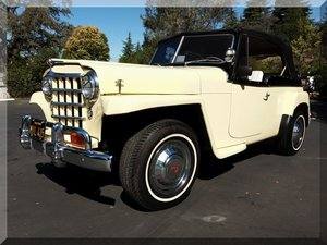 1950 Willys Jeepster = clean and solid Yellow  $24.9k
