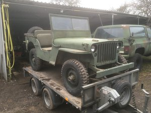 1943 Willys jeep project For Sale