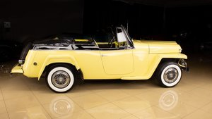 1952 Willys Jeepster Convertible Clean Yellow(~)Black  $29.9