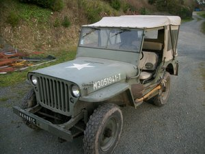 willys jeep French army