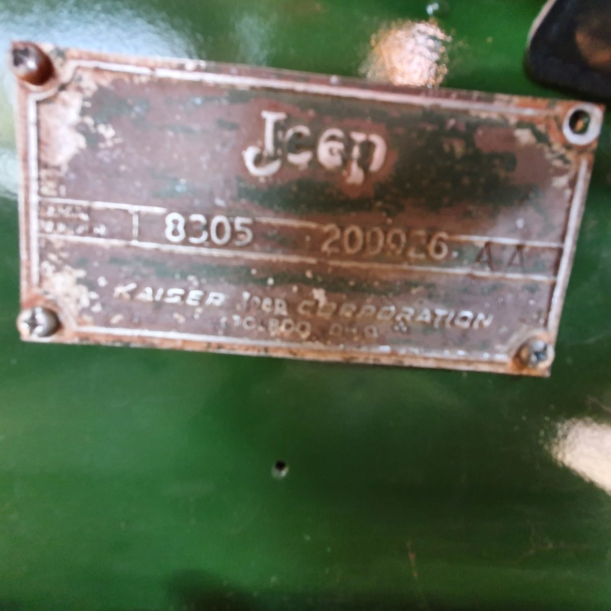 0000 Willy's Kaiser Jeep with front winch For Sale (picture 9 of 9)