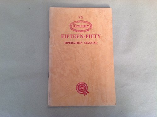 Wolseley 15/50 Handbook  For Sale (picture 1 of 2)