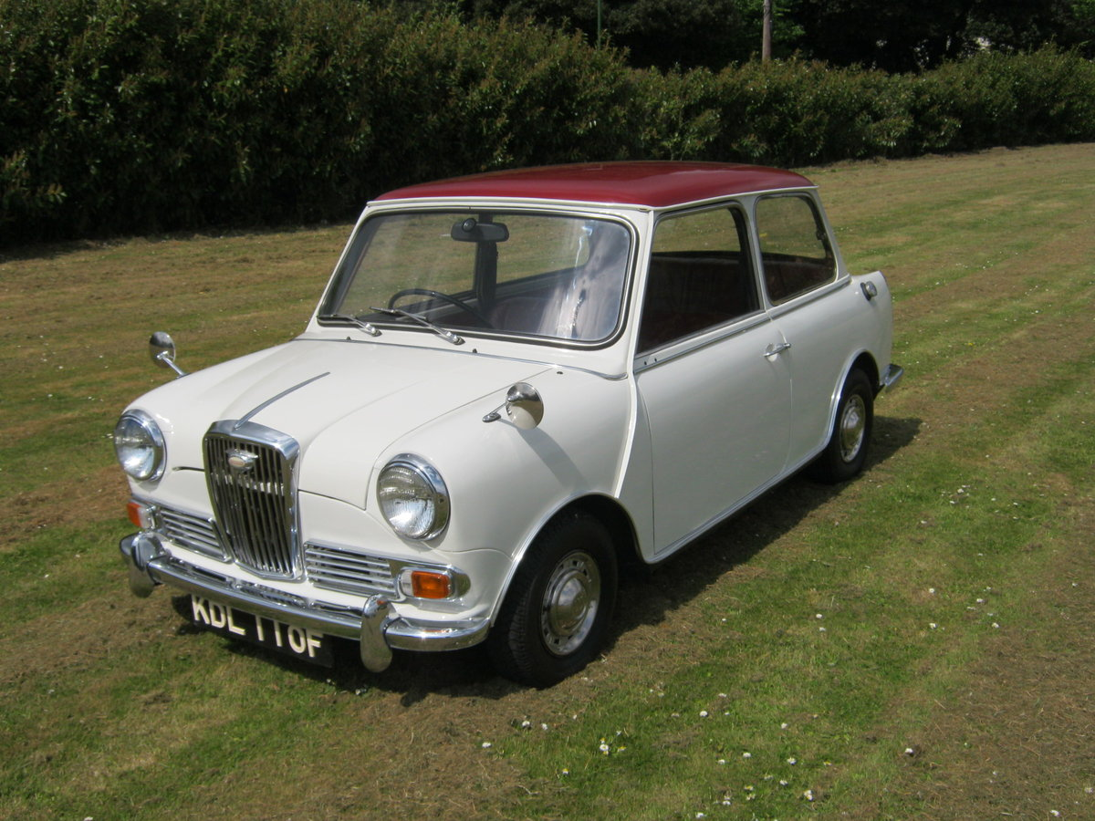 1967 WOLSELEY HORNET. SNOWBERRY WHITE/DAMASK 1 OWNER 47K  SOLD (picture 2 of 6)