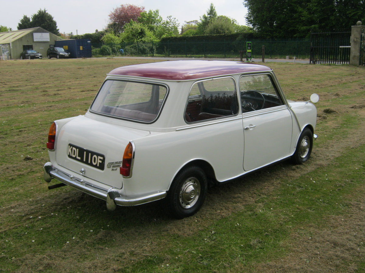 1967 WOLSELEY HORNET. SNOWBERRY WHITE/DAMASK 1 OWNER 47K  SOLD (picture 3 of 6)