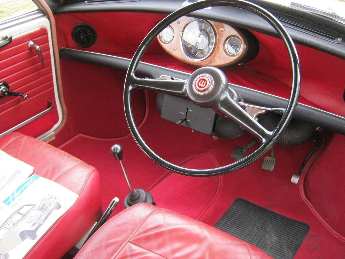 1967 WOLSELEY HORNET. SNOWBERRY WHITE/DAMASK 1 OWNER 47K  SOLD (picture 6 of 6)