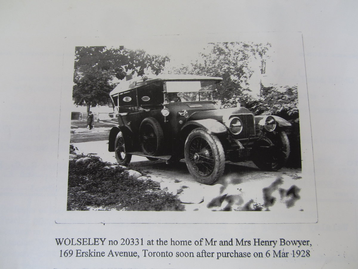1913 Wolseley Torpedo Phaeton 6 Cylinder Model M6 24/30 HP For Sale (picture 6 of 6)