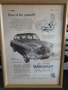1958 Original Wolseley 1500 Advert