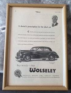 1953 Original Wolseley Six - Eighty advert