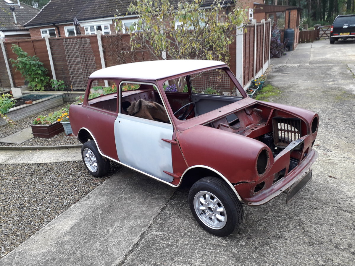 1966 Wolseley Hornet Mk2 rolling shell SOLD (picture 1 of 6)