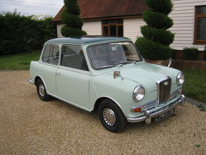 1967 WOLSELEY HORNET Mk3. PORCELAIN GREEN. 67,000 MILES SOLD