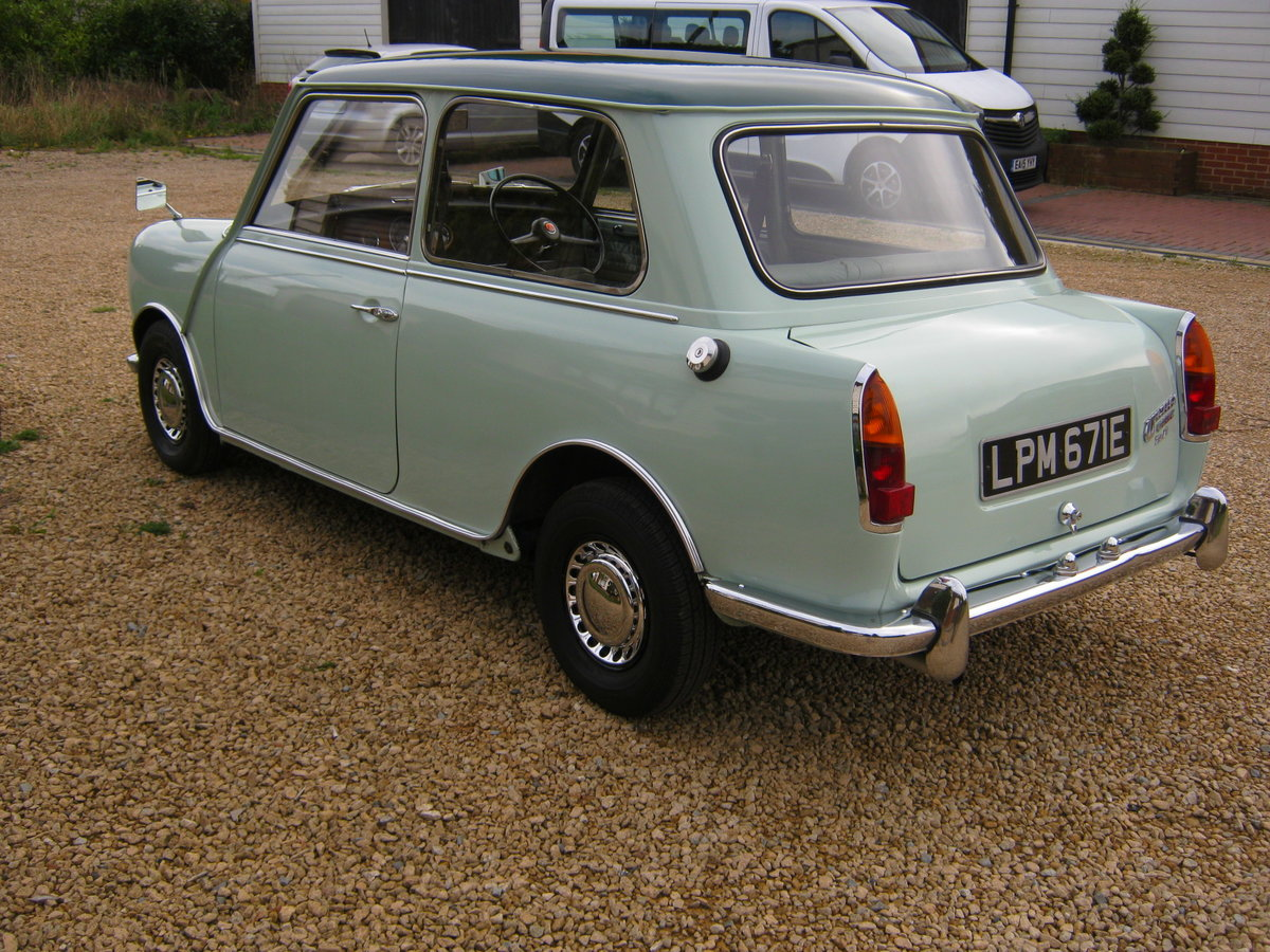1967 WOLSELEY HORNET Mk3. PORCELAIN GREEN. 67,000 MILES For Sale (picture 3 of 6)