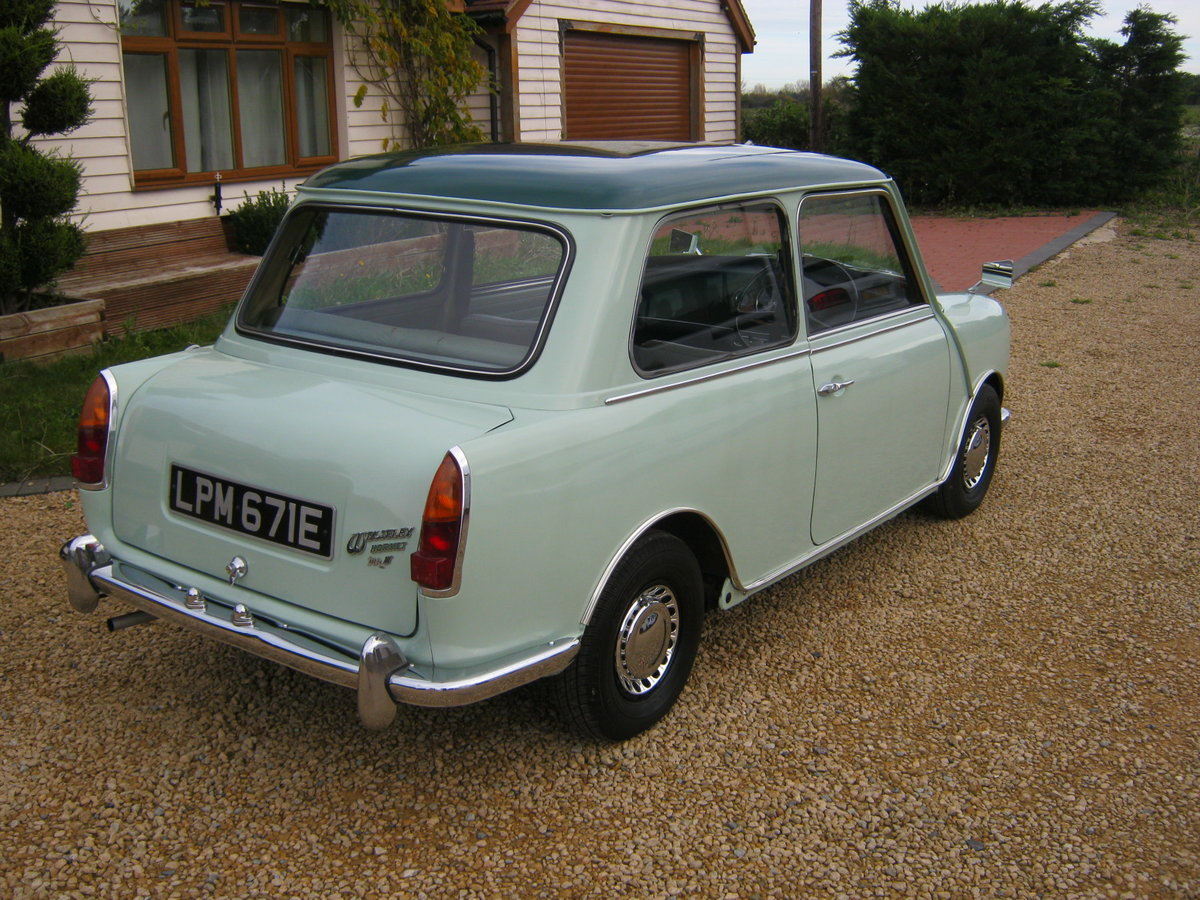 1967 WOLSELEY HORNET Mk3. PORCELAIN GREEN. 67,000 MILES For Sale (picture 4 of 6)