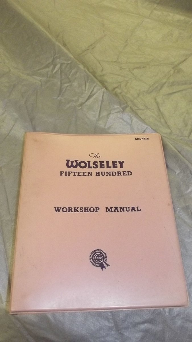 1957 workshop manual SOLD (picture 1 of 1)