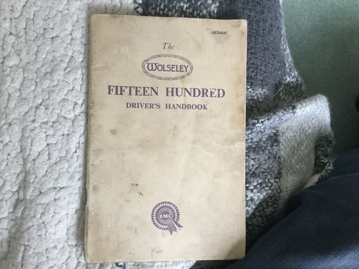 Wolseley hand book For Sale (picture 1 of 1)