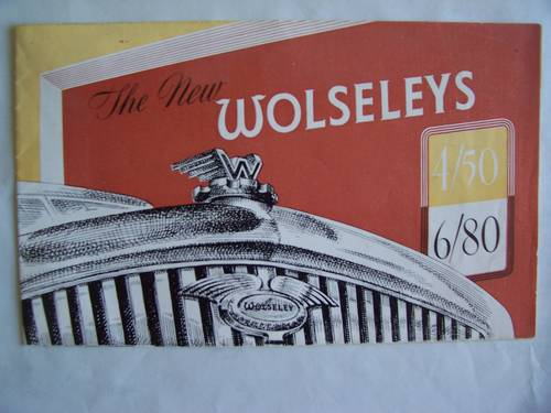 1948 WOLSELEY 6/80 & 4/50 SALES LEAFLET For Sale (picture 1 of 4)