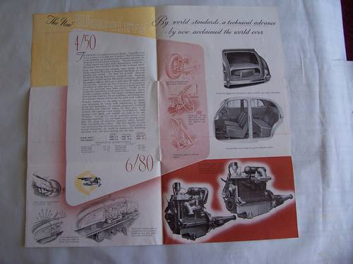 1948 WOLSELEY 6/80 & 4/50 SALES LEAFLET For Sale (picture 3 of 4)