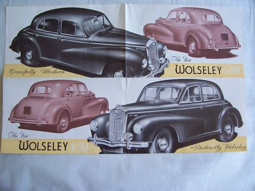 1948 WOLSELEY 6/80 & 4/50 SALES LEAFLET For Sale (picture 4 of 4)