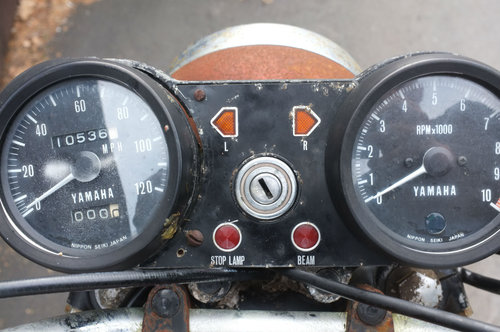 Yamaha RD350 RD 350 1972 1st year model US BARN FIND Winter  SOLD (picture 6 of 6)