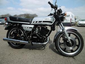 1979 Yamaha RD250 UK bike Timewarp condition .  SOLD