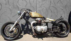 1980 'el Pincho Negro' Yamaha Bobber Hardtail For Sale