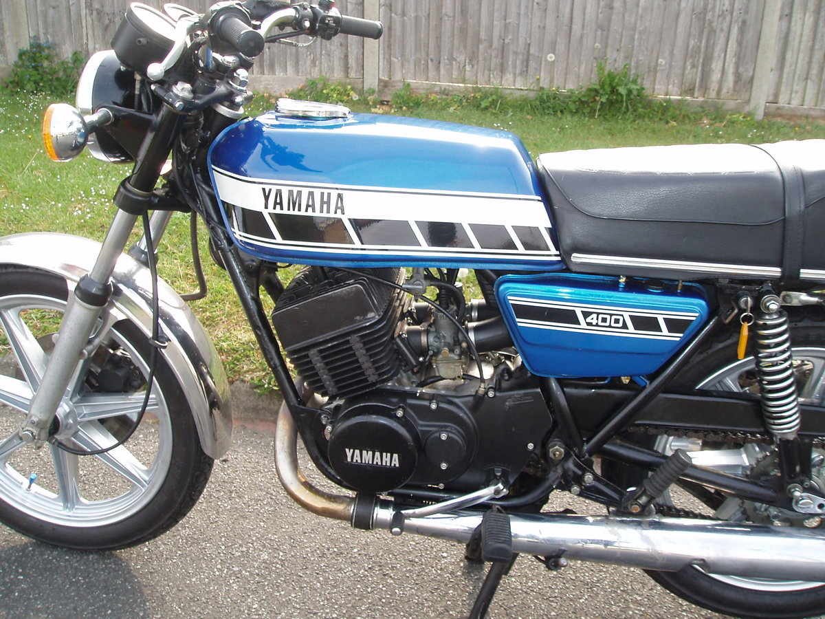 Yamaha RD400C 1AE 1976 Blue For Sale (picture 5 of 6)