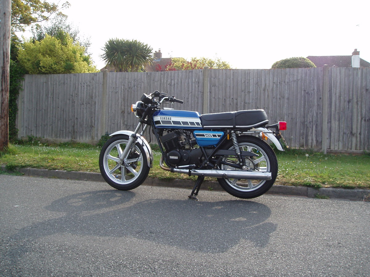 Yamaha RD400C 1AE 1976 Blue For Sale (picture 1 of 6)