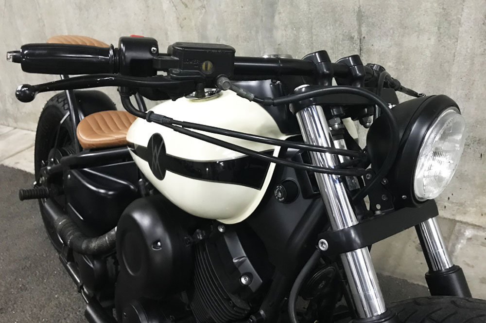 1997 AutoVero Skinny Bobber with removable pillion seat For Sale (picture 5 of 6)
