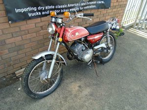 YAMAHA AT1 MX DT 125 MOTORBIKE (1971) MET RED For Sale