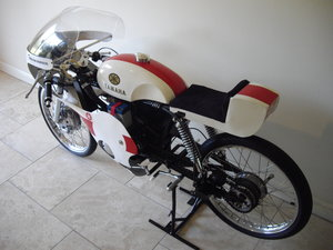 Yamaha 50cc TT Racer built by Brian Woolley
