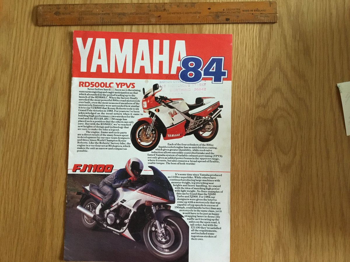 1984 Yamaha range brochure For Sale (picture 1 of 1)