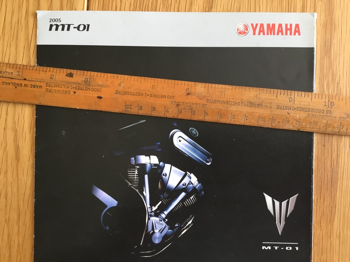 2005 Yamaha MT-01 brochure For Sale (picture 1 of 1)