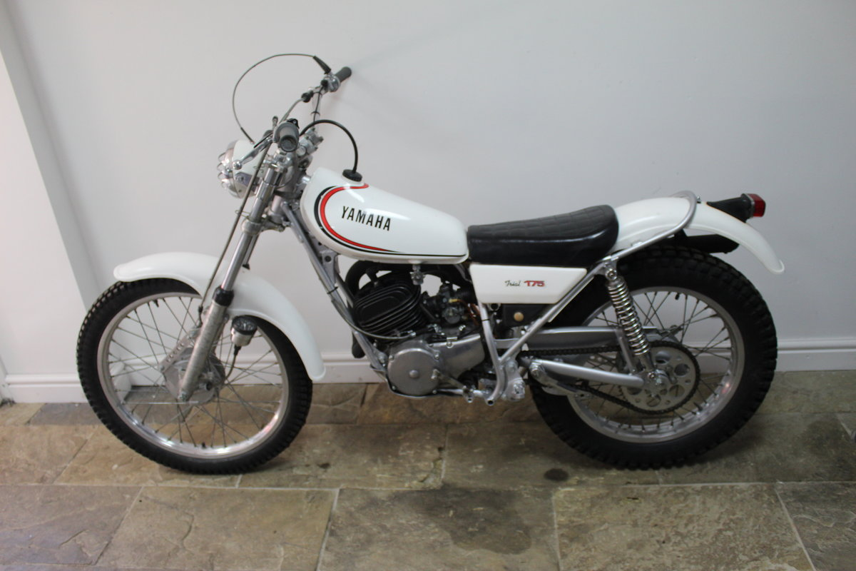 1980 Yamaha TY175 Trials Bike With Original Lights For Sale (picture 5 of 6)