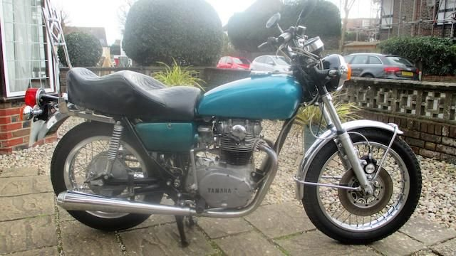 1972 YAMAHA 653CC TX650 (LOT 455) SOLD by Auction (picture 1 of 1)