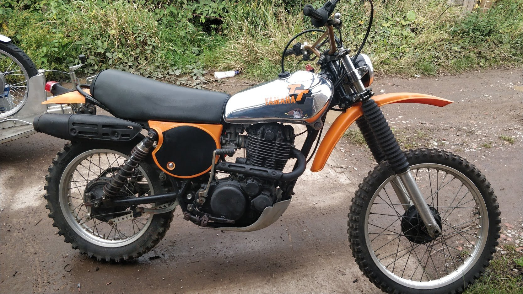 1977 Rare Yamaha TT500 (like XT500) with road lights For Sale (picture 1 of 6)