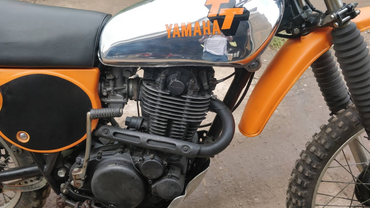 1977 Rare Yamaha TT500 (like XT500) with road lights For Sale (picture 2 of 6)