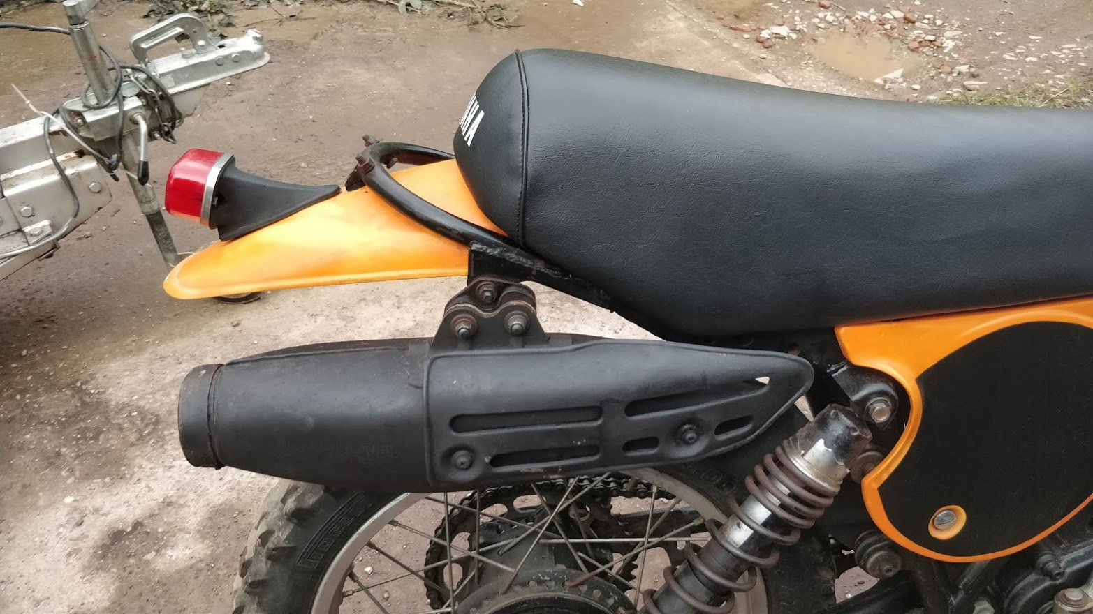 1977 Rare Yamaha TT500 (like XT500) with road lights For Sale (picture 3 of 6)